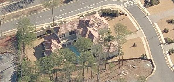 Lyfe Jennings house in Marietta Georgia - aerial