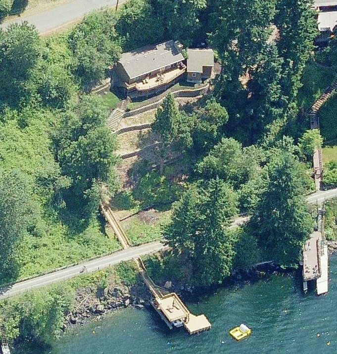 Pat Monahan's house in Sammamish Washington - aerial photo
