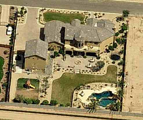 Patrick Peterson's house in Gilbert, Arizona - home photos