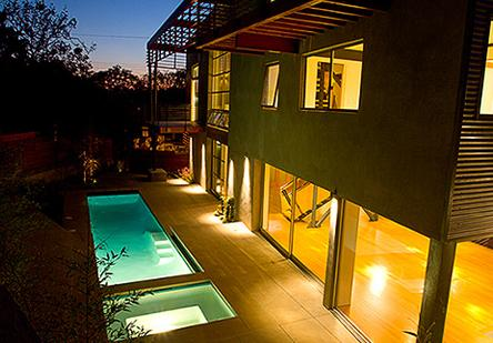 Rob Morrow's house in Santa Monica, California which he shares with his wife Debbon Ayer and daughter