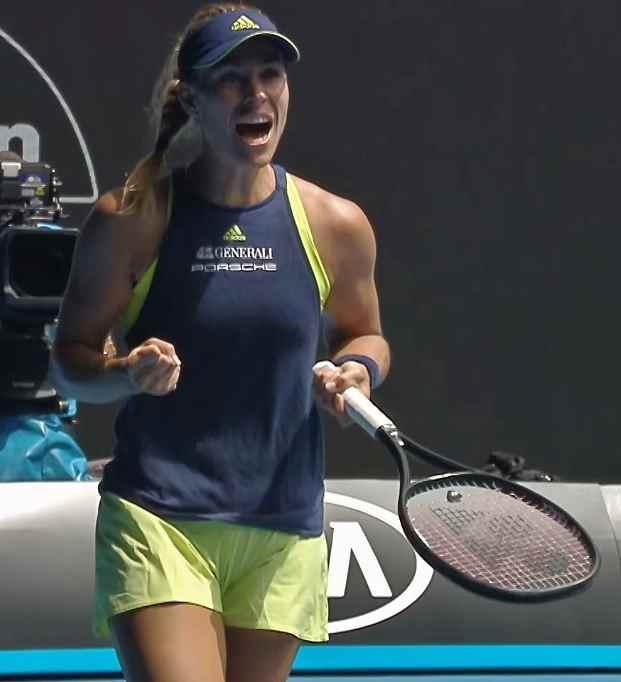 Images of Angelique Kerber Defeating Madison Keys at Australian Open 2018 Quarter Finals