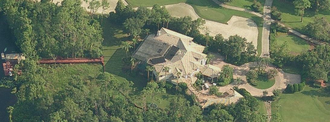 Annika Sorenstam's home in Orlando. Aerial picture.