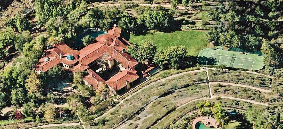 YouTube Star Arnold Schwarzenegger's's house Brentwood, California