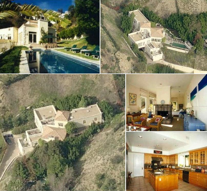 Brittany Murphy's house in Hollywood Hills area of Los Angeles