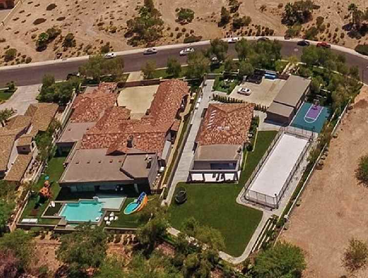 Celine Dion's Henderson, Nevada House aerial picture