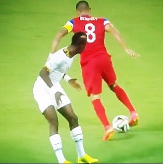 Clint Dempsey scores against Ghana at World Cup