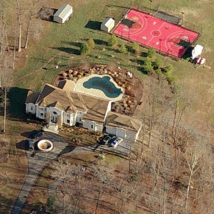 Ginuwine's house profile Brandywine, MD. Aerial home pictures.