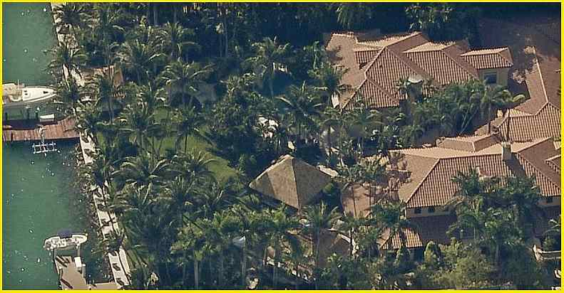 Picture of Gloria Estefan's home in Miami Beach, Florida