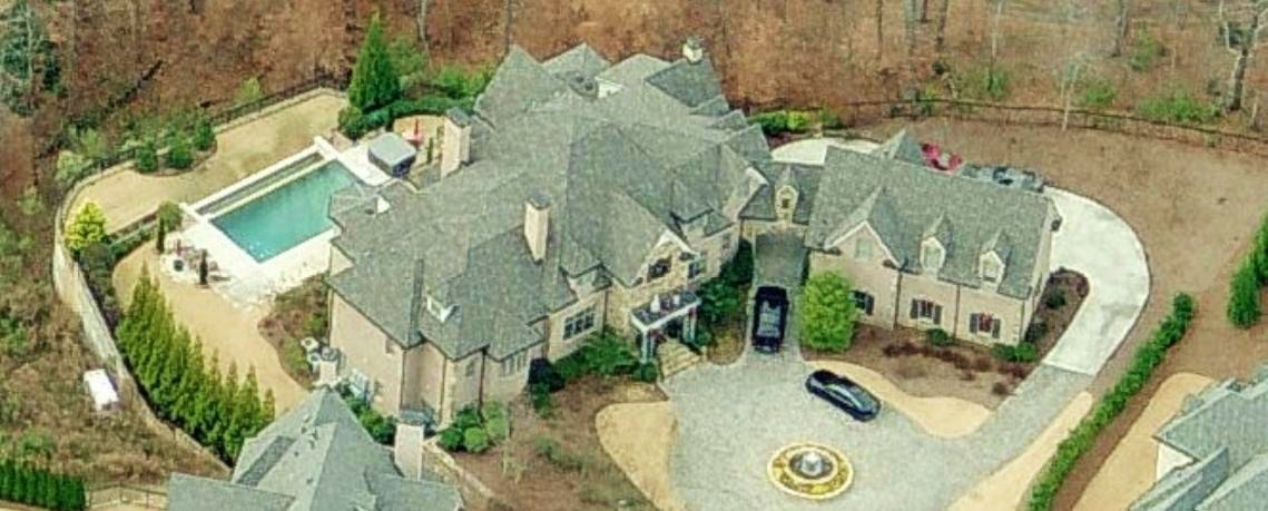 Joe Johnson's home in  Atlanta, GA. Aerial photos of celebrity homes and mansions, aerial photos celebrity houses, mansion, Foto fotos de Celebridad Celebridades casa casas Mansiones Hogares, Hogares para la venta