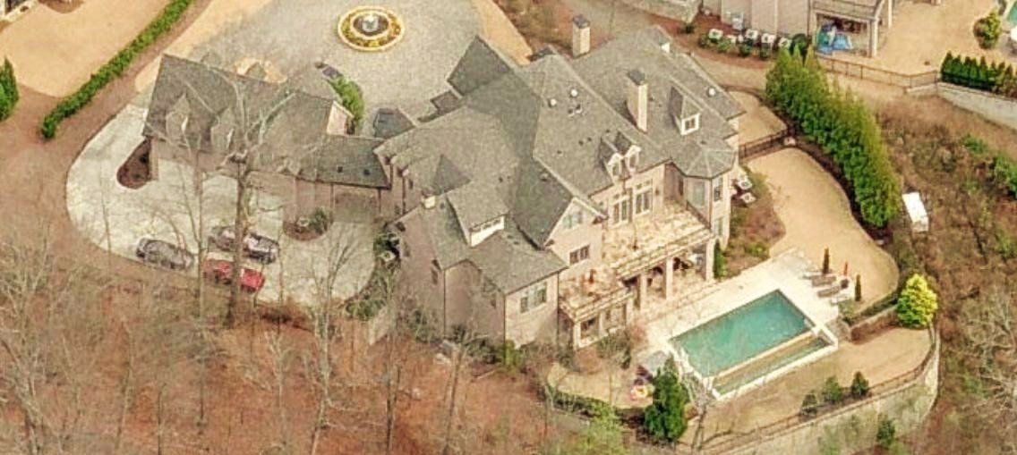 Joe Johnson 39 S Home In Atlanta GA Aerial Pictures Of Celebrity Homes