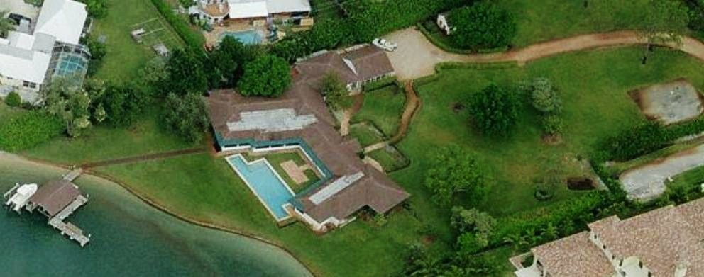 Joe Namath's home Tequesta, Florida - house picture