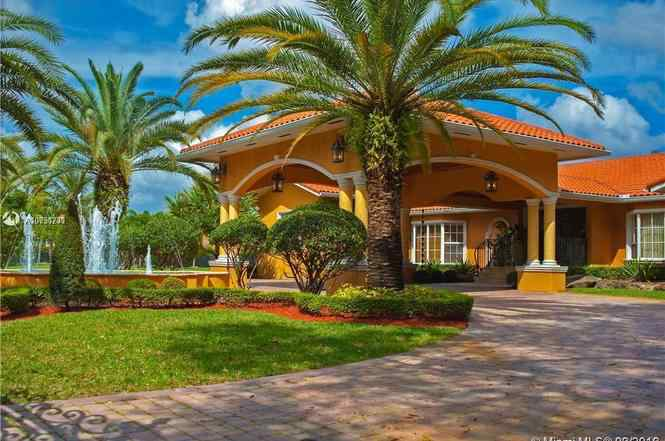 Picture of UFC star Jorge Masvidal's new house in Miami, Florida.
