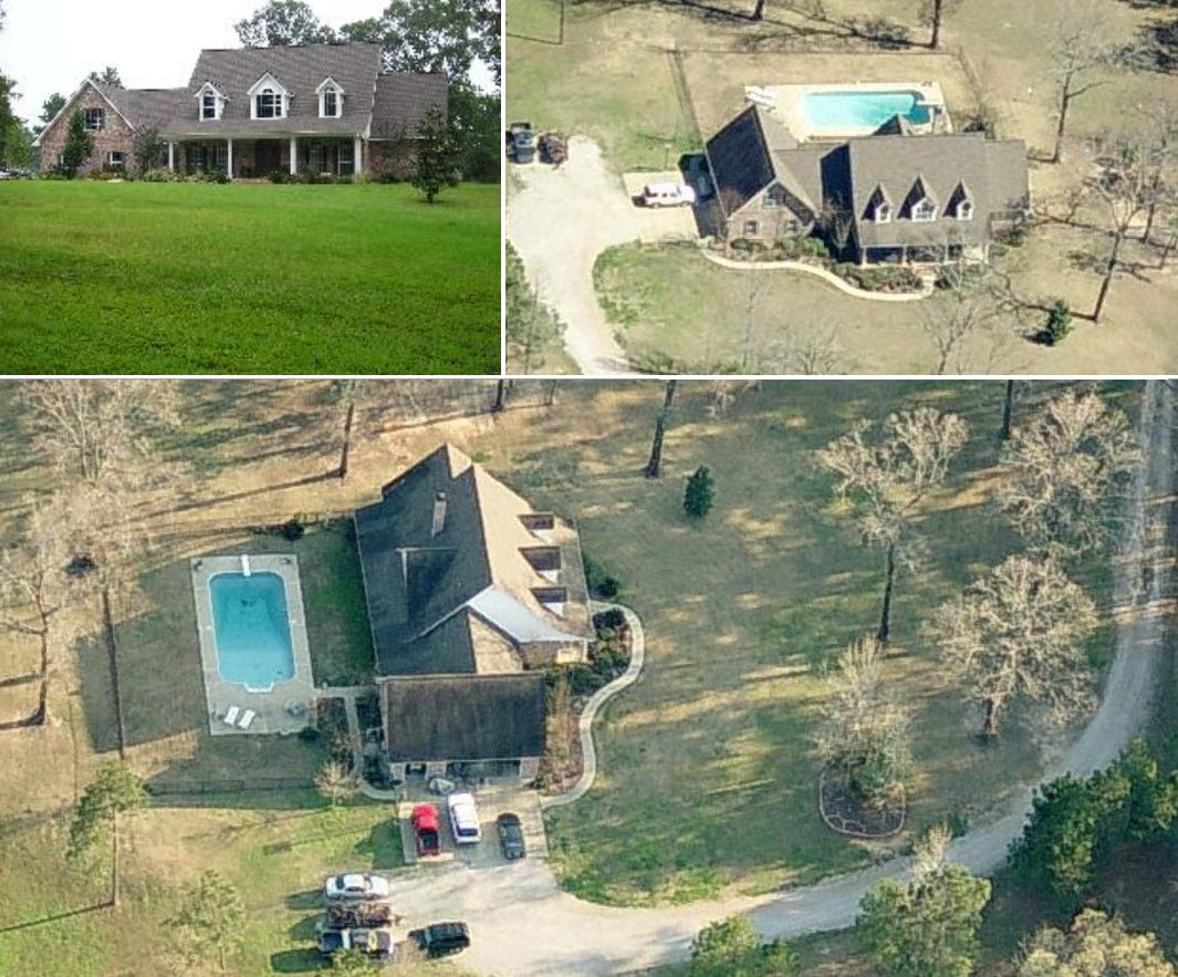 Justin Gaston's house - childhood home of Justin Gaston. Justin Gaston's Pineville, Louisiana childhood home