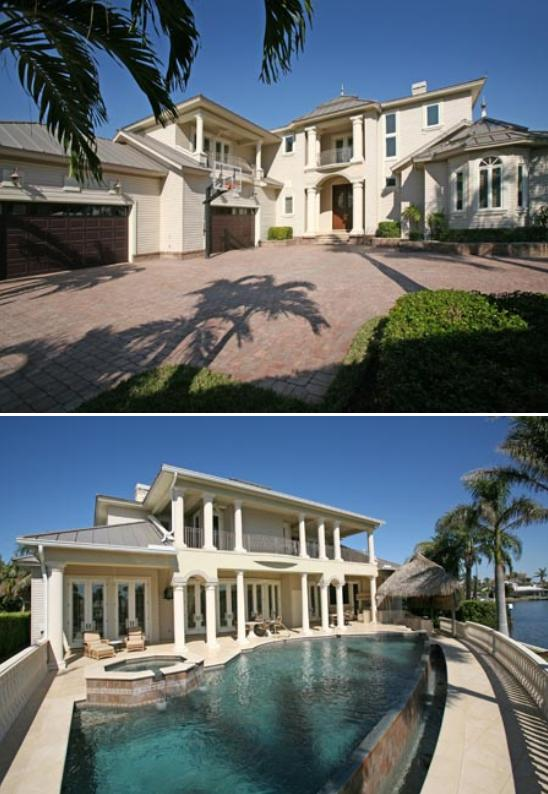 Larry Bird's house Naples, Florida. Aerial pictures of Tiger Woods house on Jupiter Island, Florida.
