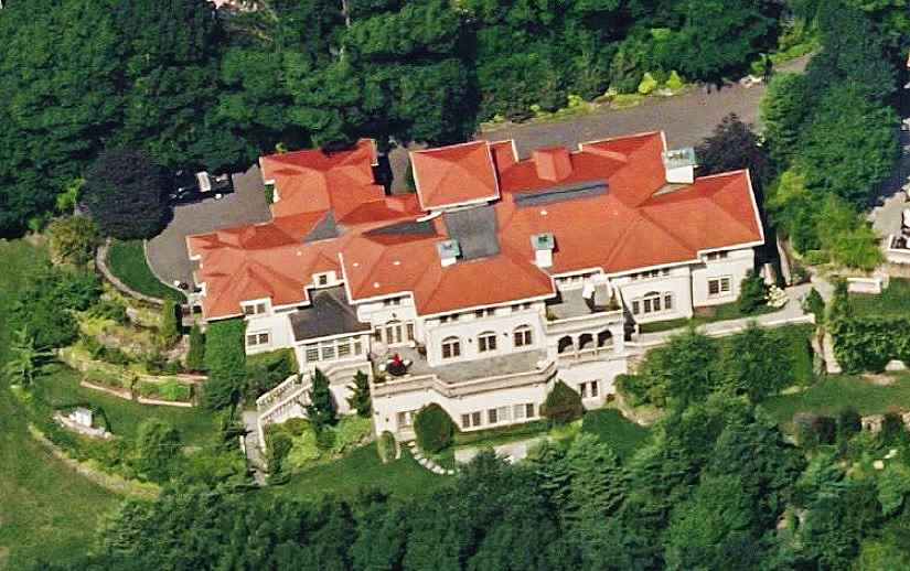 Aerial Photo of the Mehmet Oz Mansion in Cliffside Park, New Jersey