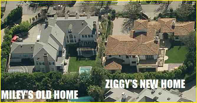 Ziggy Marley's new home. Miley Cyrus old home
