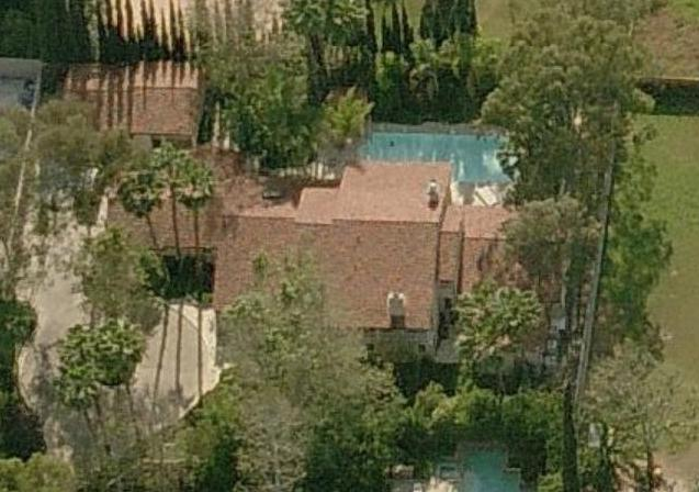 Randy Jackson house - Randy Jackson home pictures aerial photos - Tarzana, California