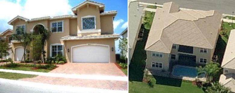 Ted Ginn's house pictures including aerial photo - Miramar, FL