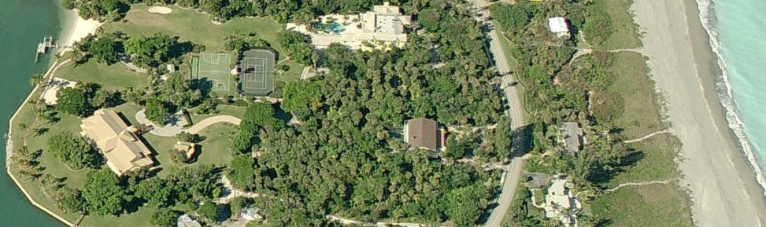 Aerial pictures of Tiger Woods house on Jupiter