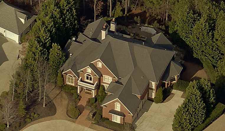 Whitney Houston's Former Alpharetta, Georgia House aerial picture